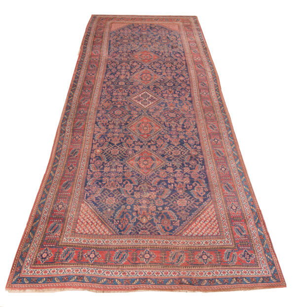 530436 Afshar Old Circa 1900 Low Pile Size 552 X 209 600x622