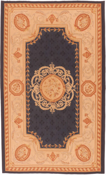 aubusson rug blue
