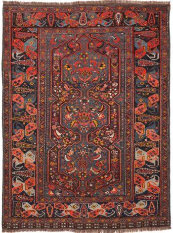 Persian Khamseh Kashgai Rug - 190 x 142cm