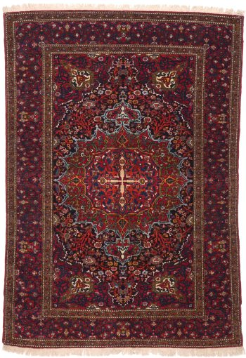 Isfahan Antique Rug Circa 1900 - 215 x 145cm