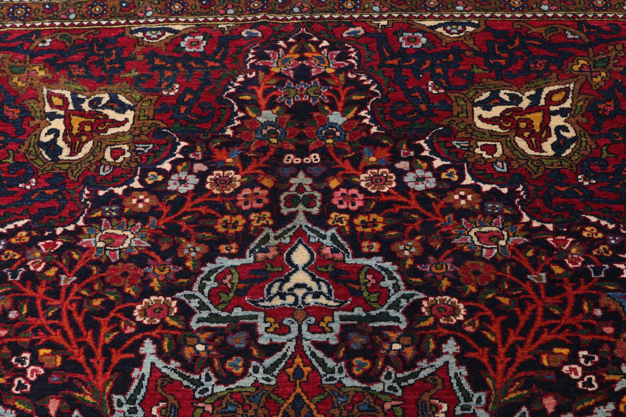 Isfahan Antique Rug Circa 1900 215 X