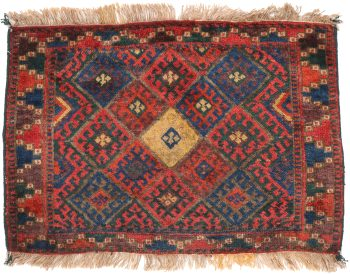 Antique Sanjabi Rug - 84 x 58cm