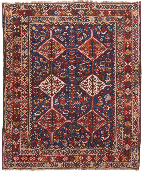 Antique Persian Bownat Rug - 204 x 162cm