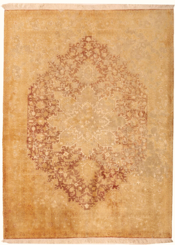 362168 Tabriz Vintage With Silk Highlights 199 X 148 Cm 1 600x839