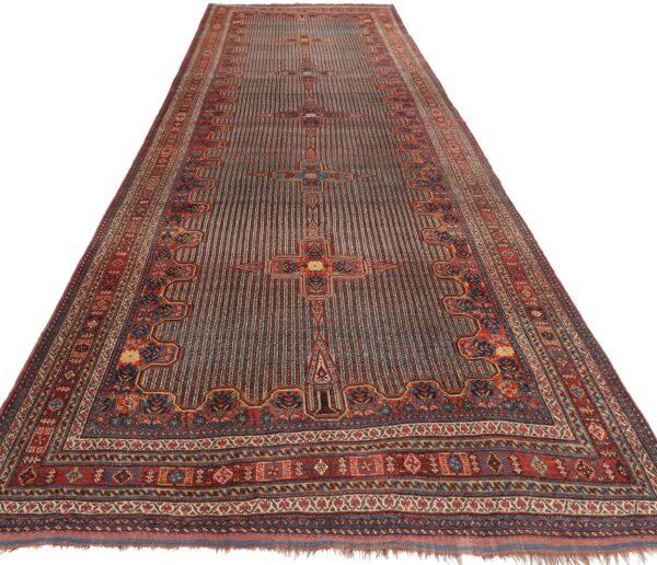 330194 Kashghai Circa 1910 Perfect Condition Size 578 X 210 Cm 2 600x516