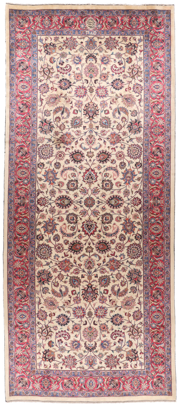 332326 Fine Mashad New Signed Astan Ghods Razavi Which Is A Trust In Mashad Making Rugs For Special Places Size 412 X 175 Cm 1 600x1374