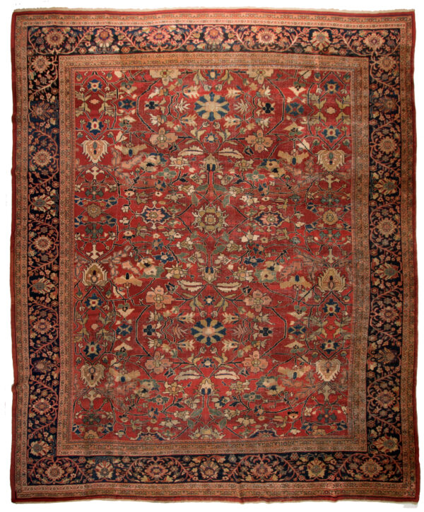 322135 Mahal Old Circa 1900 Low Pile Vintage Look Size 480 X 400 Cm 1 600x724