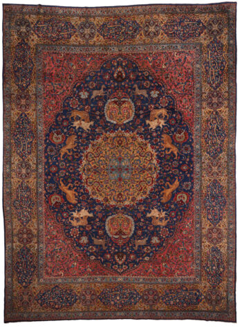 Persian Yazd Old Rug Circa 1900 - 526 x 392cm