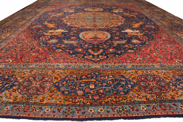 346189 Yazd Antique Circa 1900 Good Condition Slightly Low In A Few Areas Size 526x392 Cm 2 600x400