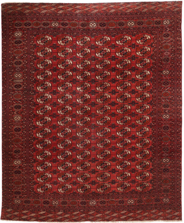 359680 Turkaman Tekke Circa 1920 Good Condition Size 380 X 325 Cm 1 600x724