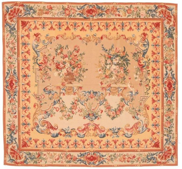 329702 Tapestry Imperial Bouquets Size 190 X 177cm 600x557