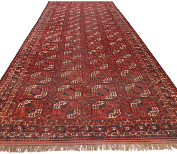 359176 Turkaman Circa 1910 Slightly Lower Pile Size 543 X 246 Cm 2 600x523