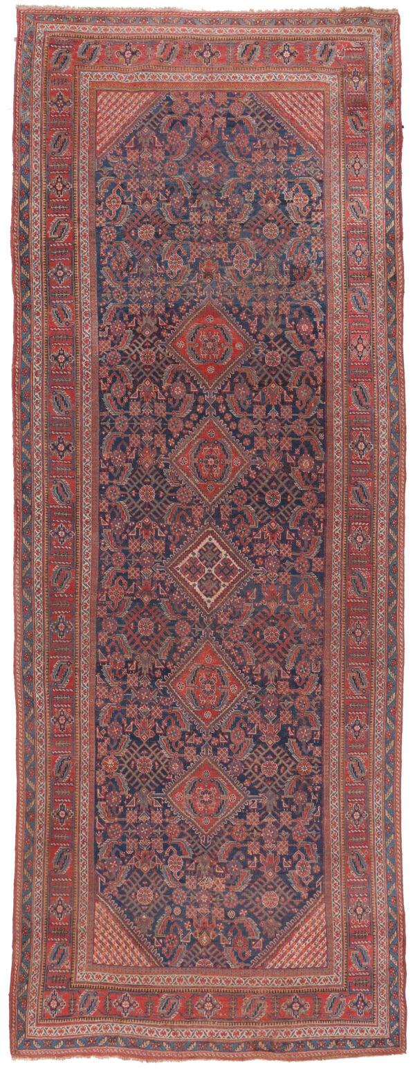 530436 Afshar Circa 1900 Low Pile Size 552 X 209 Cm 1 600x1552