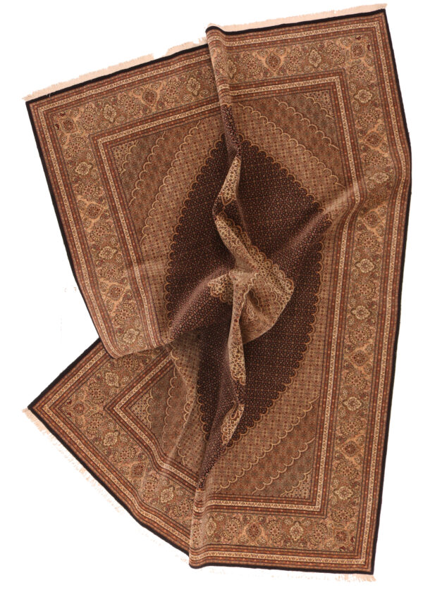 335692 Tabriz Fine Mahi Design With Silk Highlights Size 352 X 257 Cm 2 600x841