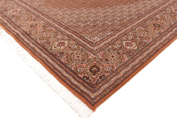 353728 Tabriz Mahi With Silk Highlights Light Rust Size 301 X 205cm 2 600x400