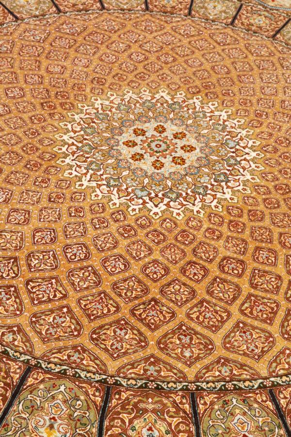 363449 Tabriz Pure Silk Signed Tabriz Woven By Khani Size 250 X 246 Cm 11 600x900