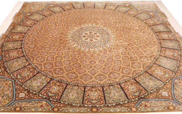 363449 Tabriz Pure Silk Size 250 X 246 Cm 3 600x377
