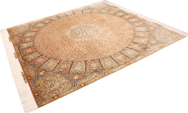 363449 Tabriz Pure Silk Size 250 X 246 Cm 4 600x362