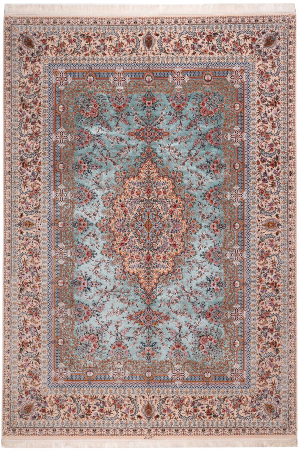 363484 Isfahan Fine Silk Ground And Silk Border Signed Isfahan Nael Abailable As Pair If Needed Size 370 X 259 Cm 1 600x904
