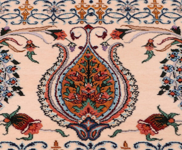 363484 Isfahan Fine Silk Ground And Silk Border Signed Isfahan Nael Abailable As Pair If Needed Size 370 X 259 Cm 17 600x494