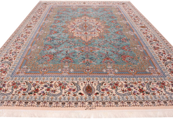 363484 Isfahan Fine Silk Ground And Silk Border Signed Isfahan Nael Abailable As Pair If Needed Size 370 X 259 Cm 2 600x414