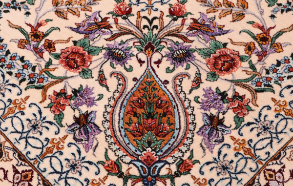 363484 Isfahan Fine Silk Ground And Silk Border Signed Isfahan Nael Abailable As Pair If Needed Size 370 X 259 Cm 7 600x381