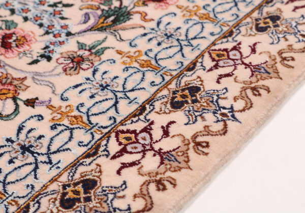 363484 Isfahan Fine Silk Ground And Silk Border Signed Isfahan Nael Abailable As Pair If Needed Size 370 X 259 Cm 8 600x420