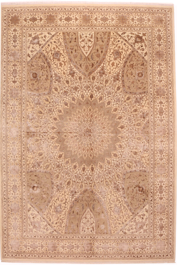 706132 Elegance Fine Gonbad Design Ceiling Of A Dome Part Bamboo Silk Size 355 X 244 Cm 1 600x895