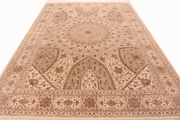 706132 Elegance Fine Gonbad Design Ceiling Of A Dome Part Bamboo Silk Size 355 X 244 Cm 3 600x400