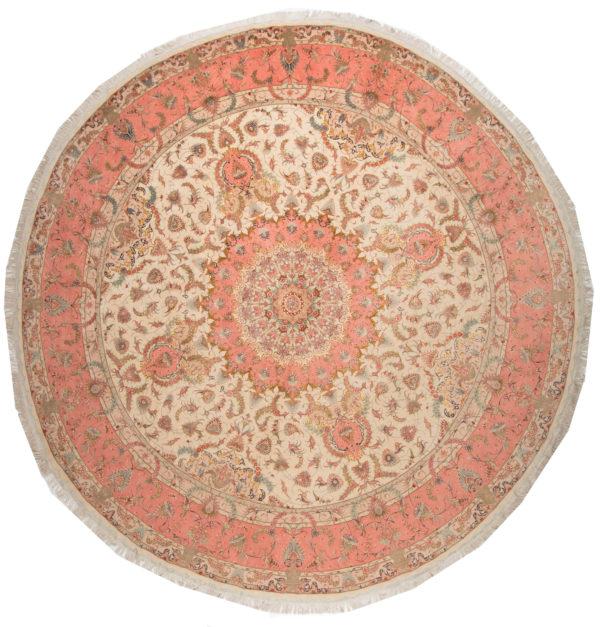304513 Tabriz Fine Part Silk Highlights Size 400 X 400 Cm 2 600x627