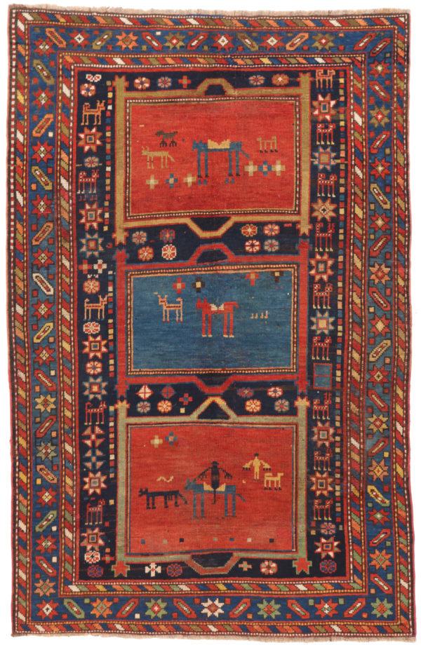 351468 Ganjeh Caucasian Circa 1910 Low Pile Size 198 X 127cm 2 600x920