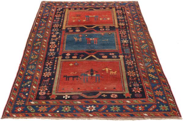 351468 Ganjeh Caucasian Circa 1910 Low Pile Size 198 X 127cm 3 600x397