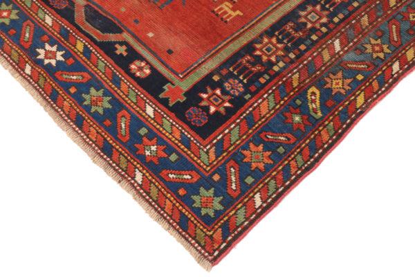 351468 Ganjeh Caucasian Circa 1910 Low Pile Size 198 X 127cm 4 600x400
