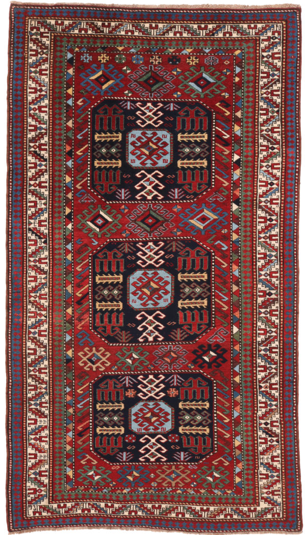 606420 Kazak Anique Circa 1910 Very Good Condition Size 261 X 138 Cm 4 600x1051