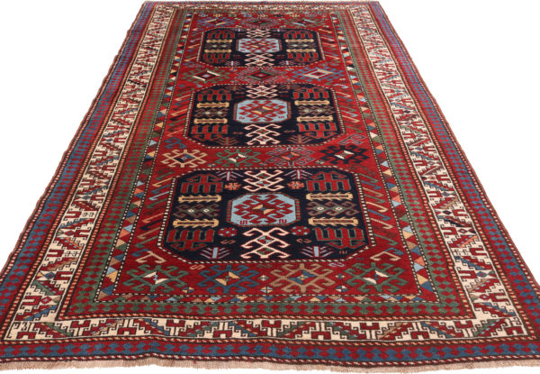 606420 Kazak Anique Circa 1910 Very Good Condition Size 261 X 138 Cm 5 600x415