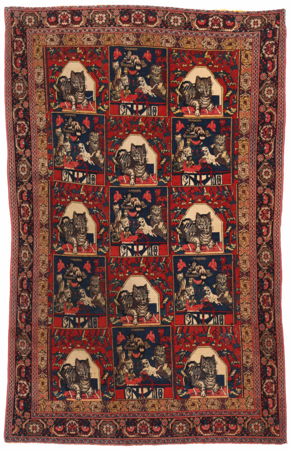 400417 Senneh Circa 1900 Or Earlier On Silk Foundation Fringes Very Good Condition Size 209x127cm 1 4 600x928