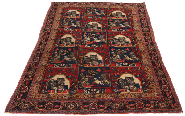 400417 Senneh Circa 1900 Or Earlier On Silk Foundation Fringes Very Good Condition Size 209x127cm 1 5 600x377