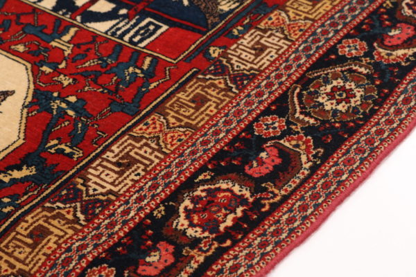 400417 Senneh Circa 1900 Or Earlier On Silk Foundation Fringes Very Good Condition Size 209x127cm 1 8 600x400