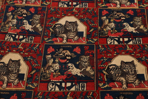400417 Senneh Circa 1900 Or Earlier On Silk Foundation Fringes Very Good Condition Size 209x127cm 5 600x400