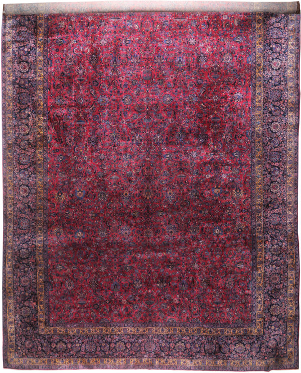 363446 Keshan Kork Manchester Wool Circa 1910 Very Good Condition Size 763 X 436 Cm 2 600x742