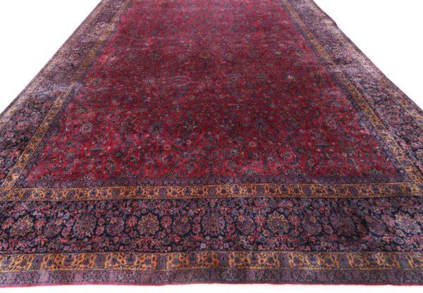 363446 Keshan Kork Manchester Wool Circa 1910 Very Good Condition Size 763 X 436 Cm 3 600x416