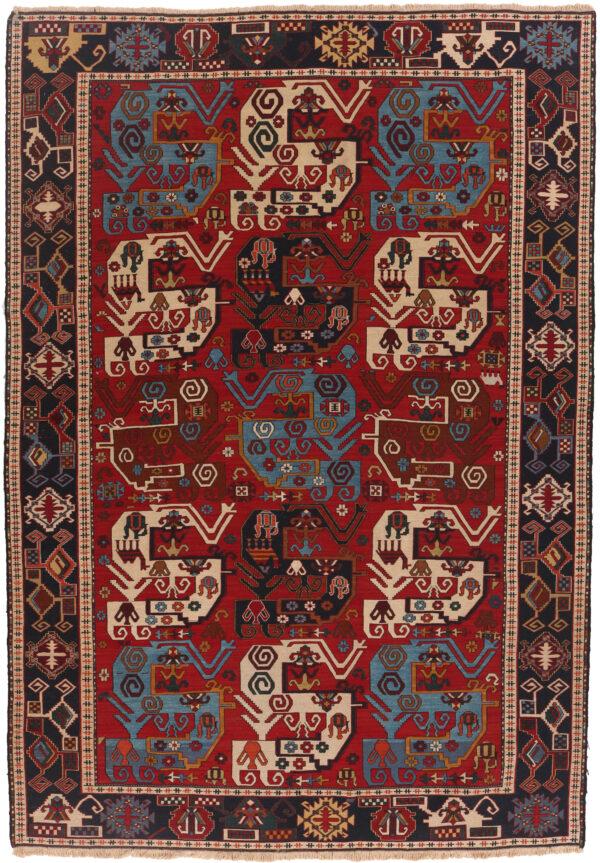 290594 Azerbaijan Verni Soumak Weave Fine Kilim Size 293 X 205 Cm 1 600x863