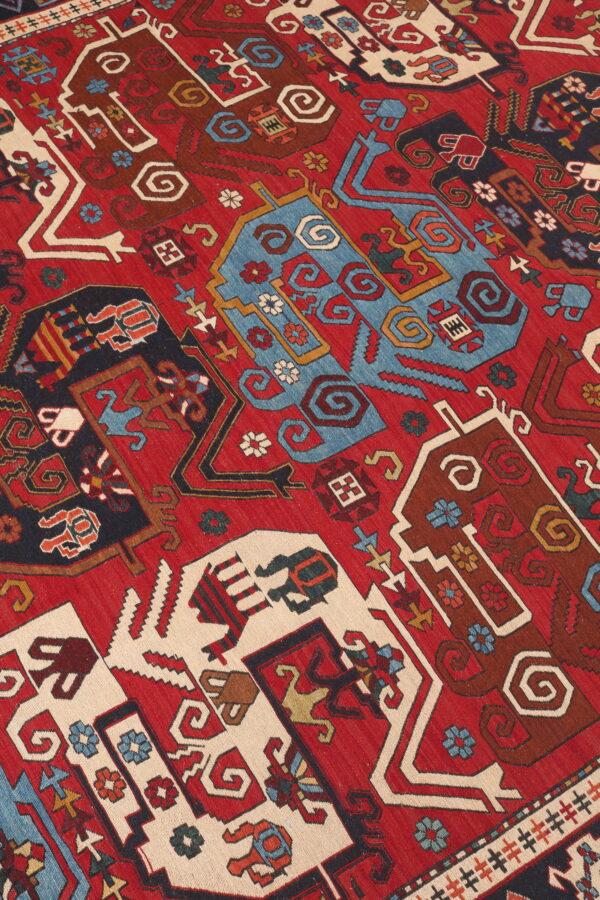 290594 Azerbaijan Verni Soumak Weave Fine Kilim Size 293 X 205 Cm 3 600x900