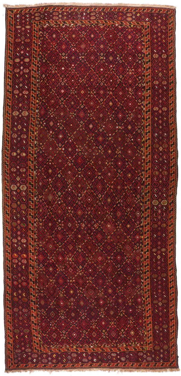 324440 Kurdi Gouchan Sumak Weave Kilim Size 405 X 185 Cm 1 600x1244