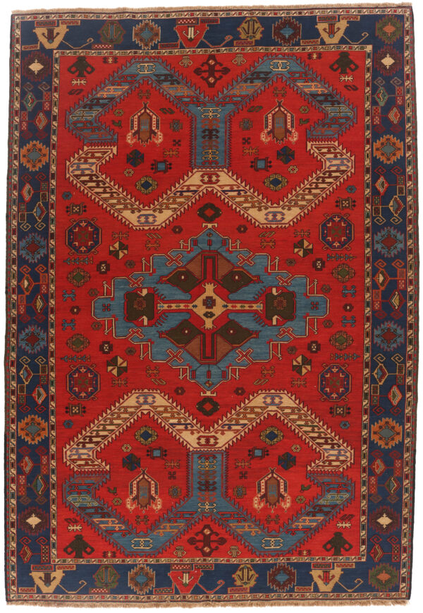 337077 Azerbaijan Verni Soumak Weave Fine Kilim Size 300 X 210 Cm 4 600x868