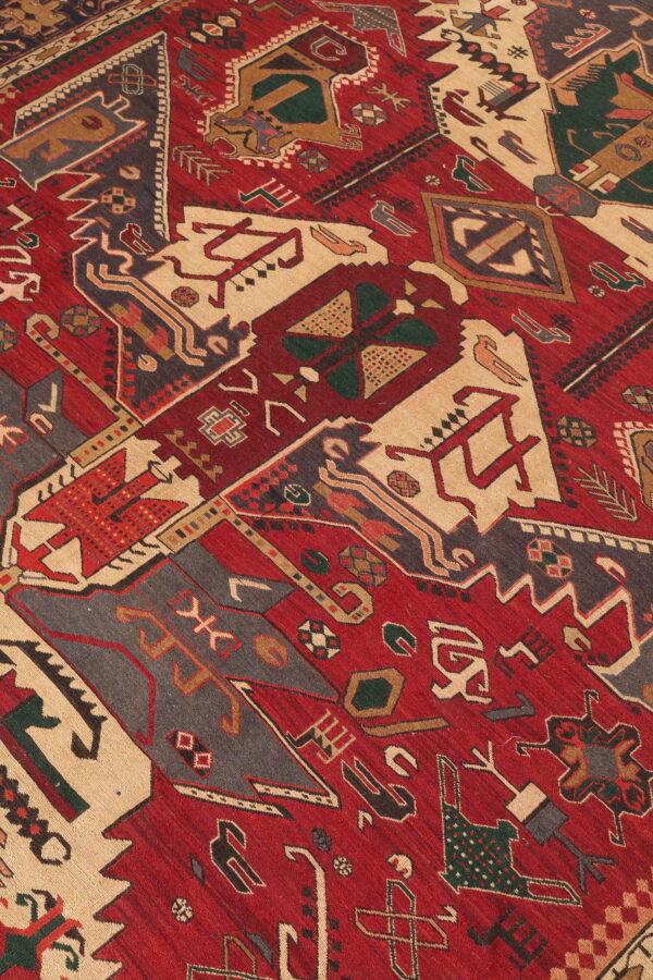 337082 Azerbaijan Verni Soumak Weave Fine Kilim Size 285 X 205 Cm 3 600x900