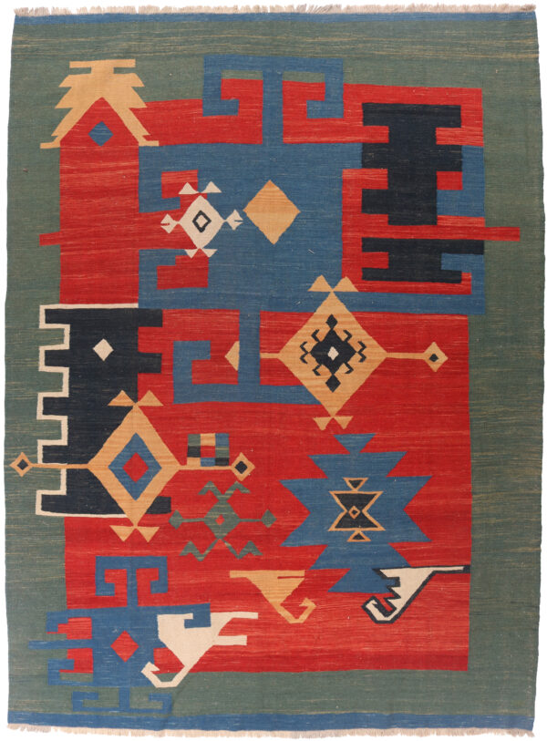 346285 Kashghai Kilim Navaho Design Size 310 X 228 Cm 1 600x813